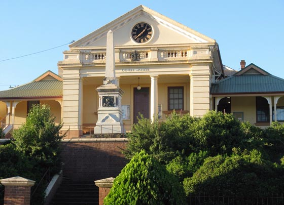 Gundagai courthouse opened 1860. Photo: Peter de Waal