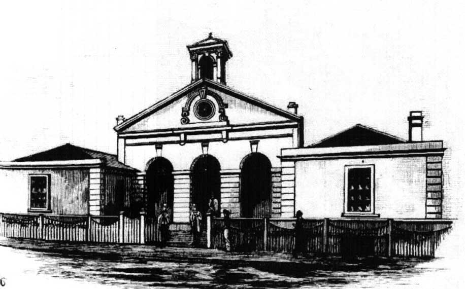 Armidale courthouse. Image: Illustrated Sydney News, Sat 5 Jul 1884, p.13. Reproduction: Peter de Waal