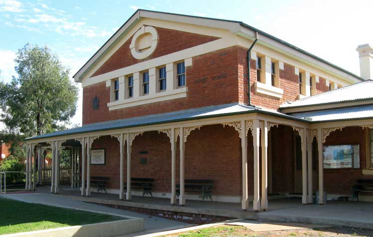 Cobar courthouse, opened 3 May 1887. Photo: Peter de Waal