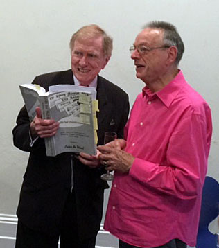 The Hon Michael Kirby and Peter de Waal at the launch of the online version of Unfit for Publication. Photo: Fernando Jimenez