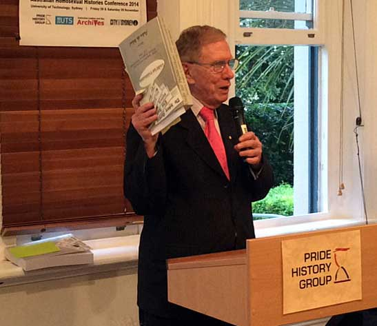The Hon Michael Kirby launching the online version of Unfit for Publication. Photo: Fernando Jimenez
