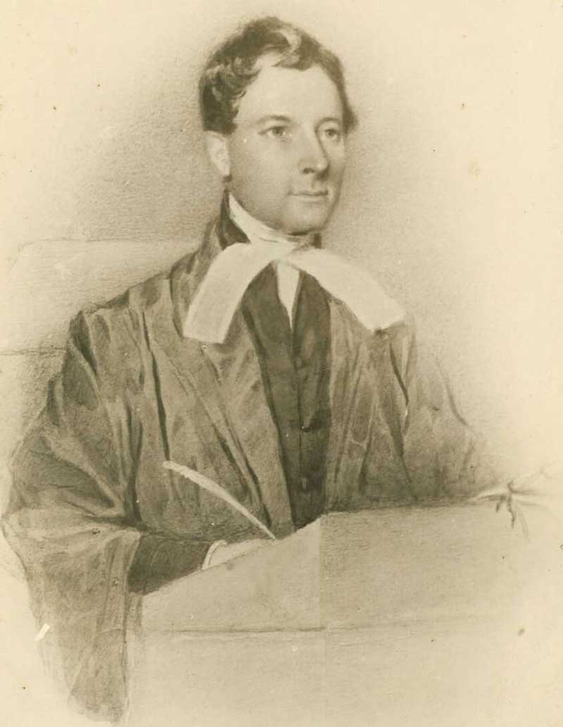 Justice Sir James Dowling, painting 1834, photo of painting c. 1870. Source: National Library of Australia. Reproduction: Peter de Waal
