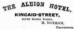Albion Hotel advertisement. Image: Wagga Wagga Express and Murrumbidgee District Advertiser, (NSW), Sat 29 Sep 1866, p. 1. Reproduction: Peter de Waal