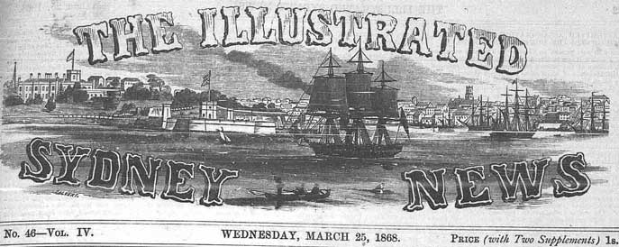 The Illustrated Sydney News masthead. Reproduction: Peter de Waal