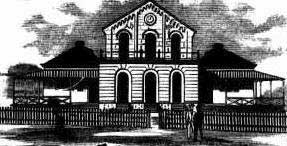 Ipswich courthouse. Image: <em>Australian Town and Country Journal</em>, Sat 3 Nov 1883, p. 841. Reproduction: Peter de Waal