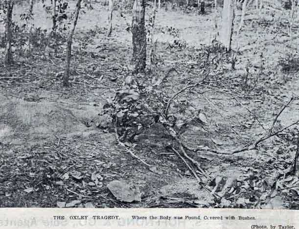The place where the lad, Alfred Stephen Hill's body was found. Image: <em>The Queenslander</em>, Sat 14 Jan 1899, p. 75. Reproduction: SLQ
