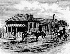 Moss Vale courthouse, built 1880. Image: Australian Town and Country Journal, Sat 16 Sep 1882, p. 552. Reproduction: Peter de Waal