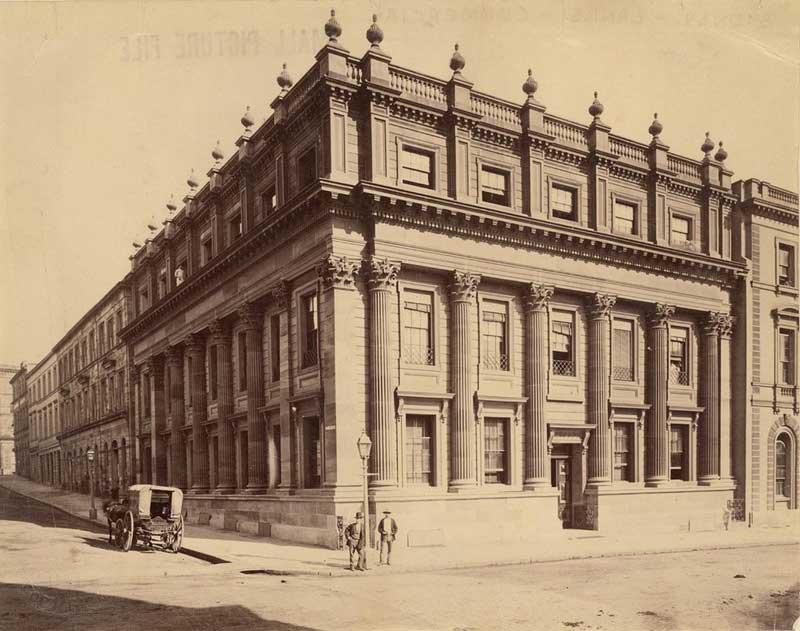 Commercial Bank, Sydney, c. 1880s. Image: NSW State Library collection. Reproduction: Peter de Waal