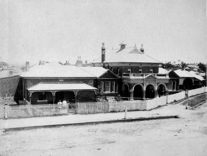 Old Police Station and Court House - Kempsey, NSW, c. 1900. Image: NSW State Library collection. Reproduction: Peter de Waal